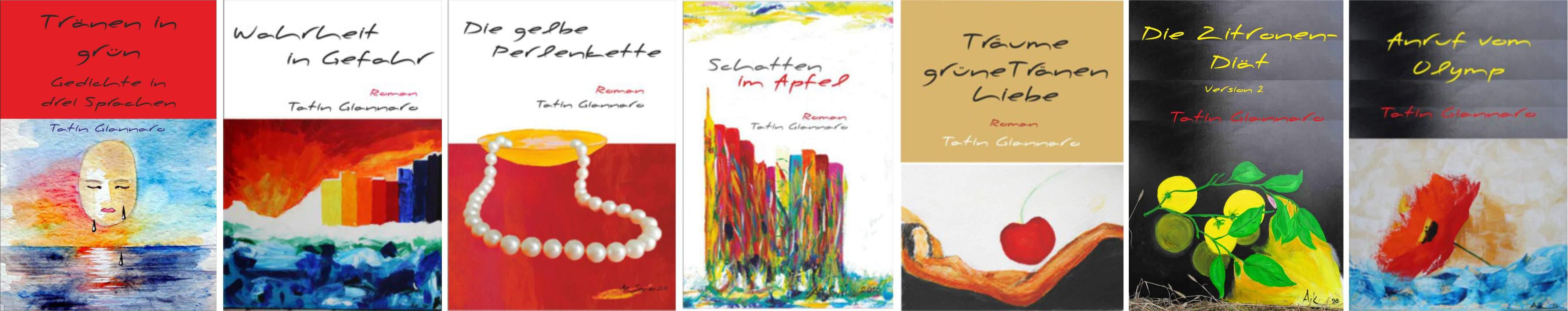 7 Buch-Cover von Tatin Giannaro