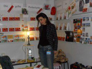 Tatin Giannaros Stand auf der Frankfurter Buchmesse 2011